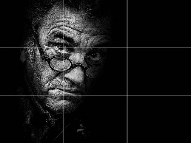 Tutoshop : les tutos pour photoshop ! Portrait-noir-et-blanc-regle-des-tiers-rob-castro
