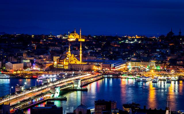 Noite filmada em Istambul