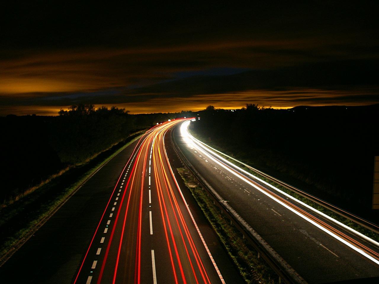 Fotos noturnas em baixa velocidade